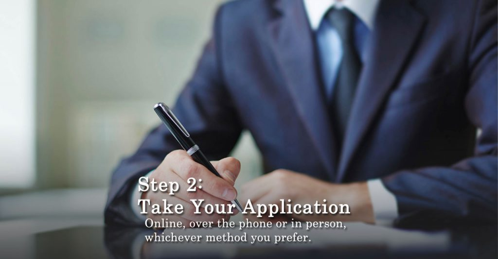 Step2 Take Your Application